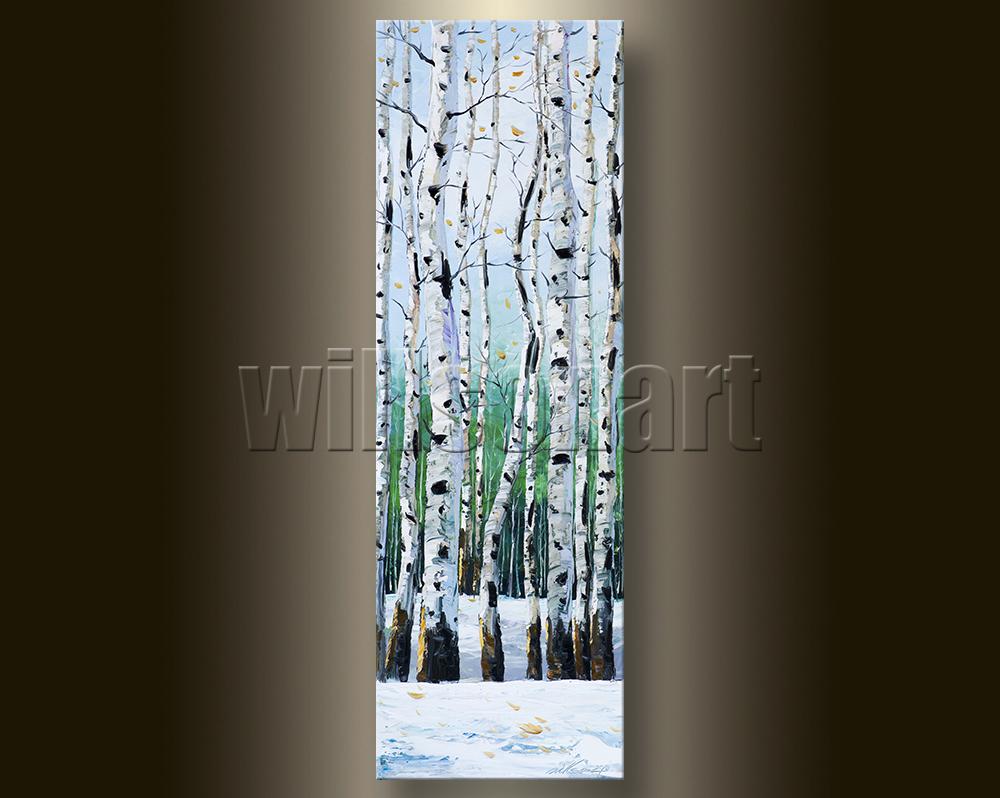 Birch Tree Forest Seasons Landscape Painting