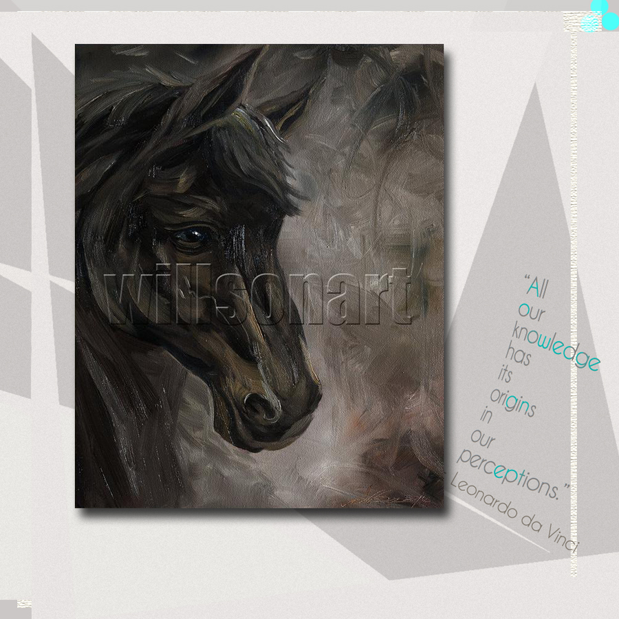 Horse Oil Painting Horse Head Portrait